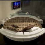 Contemporary Leather Round Beds Italian Furniture Prealpi
