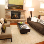 Contemporary Living Room Fireplace Image Pictures And Home