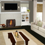 Contemporary Living Room Fireplace Smart Virtual Painter