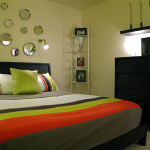 Contemporary Small Bedroom Decor Interior Design Lighting