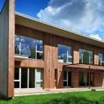 Contemporary Wooden House Design Larix Home Building Furniture And