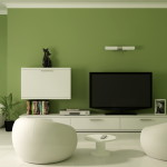 Cool Color Green Match This White Living Room Set And