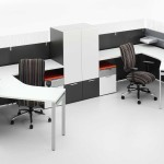 Cool Office Desk Shaped Neat Drink Spaces