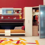 Cool Small Bedroom Ideas Red Wall