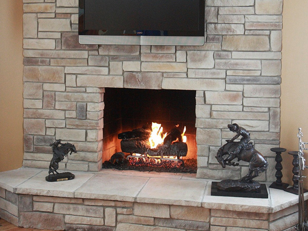 Cool Stone Fireplace Fascinating Stacked Designs