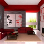 Cool Ways Decorate Your Luxurious Red Living Room