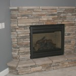 Corner Fireplace Just Stone All The Way For Home