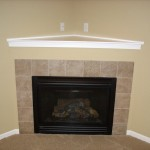 Corner Fireplaces Big Tiles Design Ideas