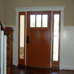 Craftsman Front Door Custom Home Interiors