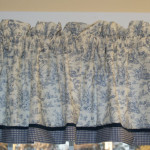 Cream Scenic Toile Valance Drapery Weight Can Alter Curtain