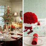 Creative And Cheerful Christmas Table Decorating Ideas Glamor Dining