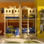 Creative Colorful Pink Bunk Beds For Bedroom