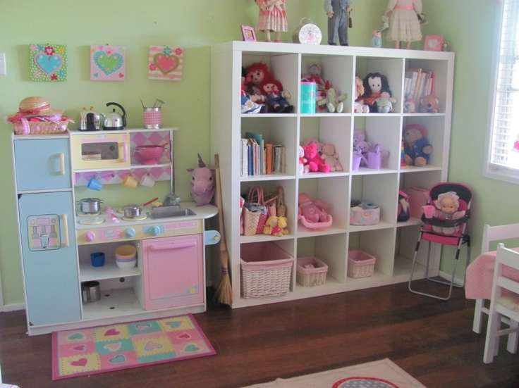Cubby Storage And Cute Kitchen Playroom Ideas