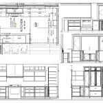 Current Kitchen Drawings Plan View And The Four Elevations Views