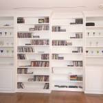 Custom Bookshelves Build Between Rooms Room Divider Opens