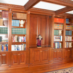 Custom High End Library Bookcases And Wainscoting