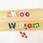 Custom Wooden Name Puzzles Products Love