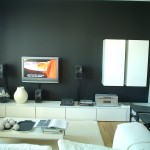 Dark Gray And White Wall Paint Latest Lcd Cabinate Design