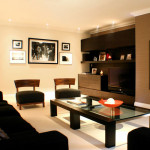 Dark Living Room Decorating Design Interior Pictures