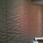 Decorative Wall Panel Wave Eclectic Other Metro