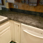 Decoupage Process Created Granite Look That Updated Her Kitchen