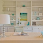 Delicate Home Office For Women White And Marine Decoration