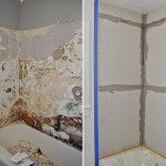 Demo The Old Tile Installed Cement Backer Board