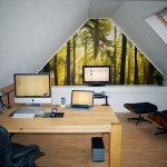 Design For Small Home Office Attic Workspace Designs And