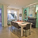 Dining Room Interior Blue Color Trend