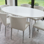 Dining Sets Ellie Oval White And Curva Set