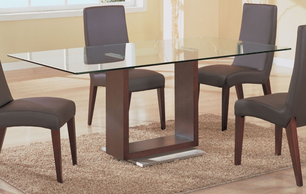 Dining Table Glass Top Wood Marble Base Tables