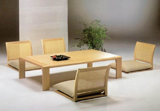 Dining Table Traditional Japanese Style Room Furniture