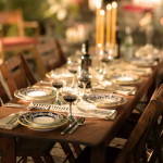 Dinner Party Ideas Outdoor Wood Dinning Table