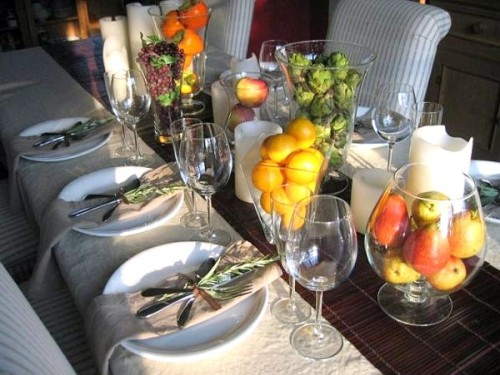 Display Autum Table Setting Fall Decorating Ideas