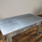 Distressed Antique Zinc Coffee Table Tables