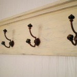 Distressed Primitive Wood Coat Hanger Shelf Craft Ideas