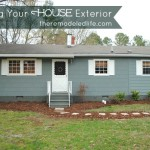 Diy Painting Your House Exterior Green And Gray Paint Color