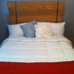 Diy Wood Headboard Super Simple And Cheap Want This For Bedroom