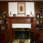 Double Mantle Fireplace