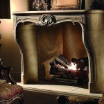 Double Mantle Fireplace Decorative Lighting