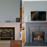 Double Mantle Fireplace Flat Wall