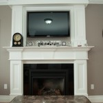 Double Mantle Fireplace Picture Frame