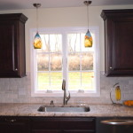 Double Pendant Lights Over Sink Traditional Kitchen Newark