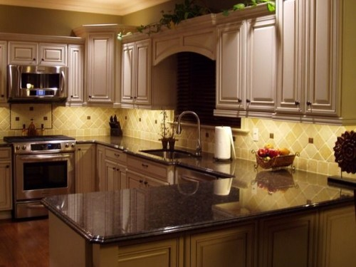 Double Shaped Kitchen Design Kitchens