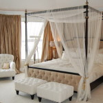 Draperies Small Bedroom Decorating Ideas Using Wonderful Canopy Bed