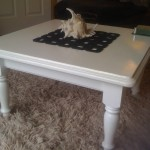 Easy Diy Coffee Table Paint Old Wooden Add Runner