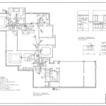 Electrical Layout And Kitchen Cabinets Detail For The House Plan
