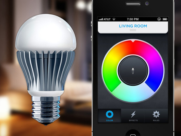 Enabled Multi Color Led Light Bulb That You Control Your Iphone
