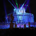 Event Rome Italy Amazing Light Show For Launch Youtube