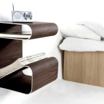 Exotic Modern Wall Mount Wooden Bedside Table Bedroom Furniture Ideas